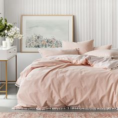 Pink Headboard, Quilt Cover Sets, Linen Bedding, Duvet Covers, Sweet Home, Quilts, Blanket, Contemporary, Bedroom