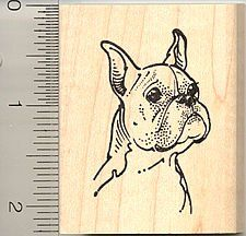 Boxer Dog Face Rubber Stamp - Wood Mounted >>> You can get additional details at the image link.