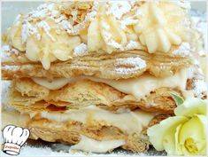 MILLE-FEUILLE (ΜΙΛΦΕΙΓ) - Νόστιμες συνταγές της Γωγώς! Apple Pie, Desserts, Recipes, Food, Pancakes, Tailgate Desserts, Deserts, Pancake, Dessert