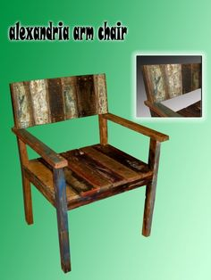 Alexandria  Arm Chair Recycled Boat Wood