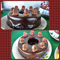 Rustic chocolate cake for my baby's 8th month!