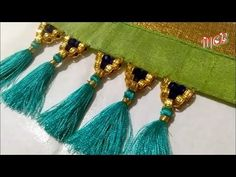 MCB's triangle shape kuchu/tessels desgin(part-1)using crystals & golden beads - YouTube Saree Tassels Designs, Saree Kuchu Designs, Blouse Designs, Sarara Dress, Tatting Jewelry, Lace Homecoming Dresses, Triangle Shape, Blouse Styles, Indian Jewelry