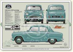 Classic Mercedes, Ford Classic Cars, Austin Cars, British Car, Classic Portraits, Car Advertising, Drag Cars, Old Cars, Motor Car