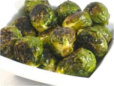 Super Healthy Roasted Brussels Sprouts...Never eat boring, boiled Brussels sprouts again. You'll be pleasantly surprised by how tasty Brussels sprouts can be when roasted. Roasting brings out their sweetness and reduces the harsh flavor of this cabbage. The skinny for each serving is 80 calories, 4 grams of fat and 2 Weight Watchers POINTS. PLUS.