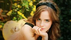 Emma Watson Black Tie HD Wallpaper