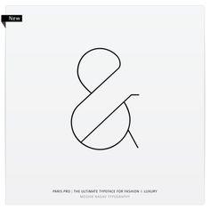 Paris Pro Typeface - Light Family by Moshik Nadav by Moshik Nadav Typography, via Behance