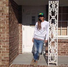 Tobin Heath. (Instagram) Queer Fashion, Hip Hop Fashion, Tomboy Fashion, Urban Fashion, Tomboy Style, Soccer Goalie, Soccer Players, Soccer Usa, Soccer Girls