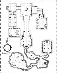 Dungeon Battle Map from Cartographers' Guild