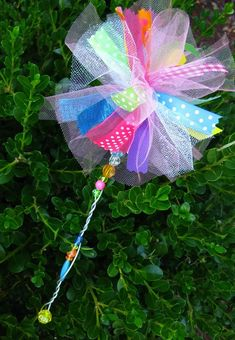Fairy Princess Ribbon Wand with left over ribbon scraps!  Don't we all need one?