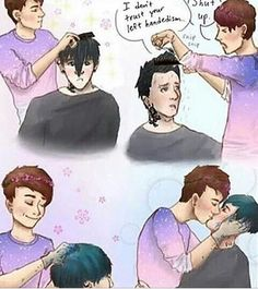 Omg punk phil and pastel dan is my aesthetic
