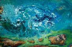 "A ""Tsunami"" to blow you away, by Mladen Stankovic, ""originalart #artist #oilpainting #artoftheday #blue #svetionikart #wallart #decor"