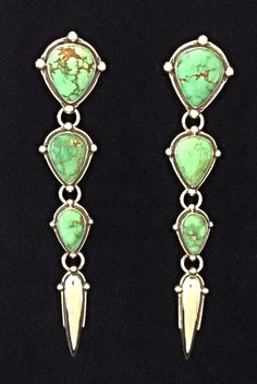 Carico lake turquoise earrings by Annelise Williamson.