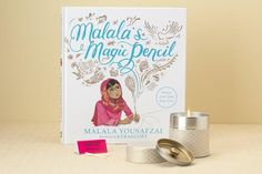 We Paired Her First Illustrated Book Malalas Magic Pencil With One Of Our Most Popular Items The Tall Washi Tin Candle What A Great Way To Inspire