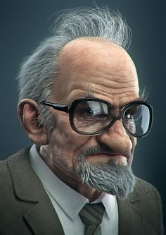 Grandpa KarlEvert by Dick Adolfsson | Portrait | 3D | CGSociety