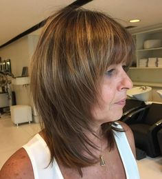 20 Age-appropriate Hairstyles with Bangs for Older Women Latest Hairstyles bob hairstyles Medium Layered Haircuts, Medium Hair Cuts, Short Hair Cuts, Medium Hair Styles, Curly Hair Styles, Layered Bobs, Older Women Hairstyles, Hairstyles With Bangs, Latest Hairstyles