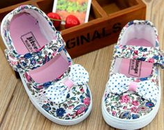 USD 19.9 FREE SHIPPING Toddler Girls' Canvas Shoes 2014 Spring New Princess Flower Bow Child Sneakers For Kids Girls Floral Brand Designer Child Shoe $19.90