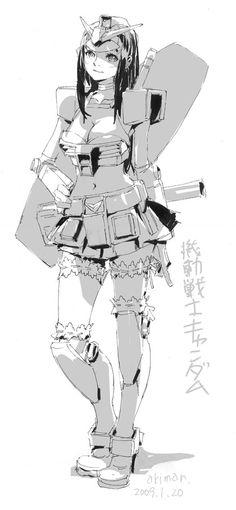 Gundam Girl by あきまん