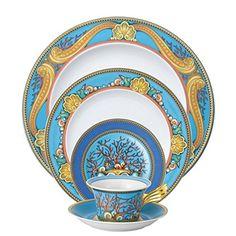 Versace By Rosenthal La Mer 5 Piece Dinnerware Place Sett... Https: