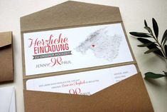 pocketfold einladungskarte aus kraftpapier mit boardingpass pocketfold wedding invitation craftpaper and boardingpass