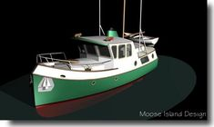 Port bow view 'Sea Troll 30' yacht / small craft / power boat design