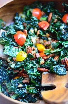 Kale BLT Salad Recipe | ReluctantEntertainer.com