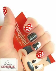 Mickey nails nail designs for fall french tip nail designs for short nails essie nail stickers nail art stickers at home nail art strips latest nail art designs gallerynail designs for short nails easy full nail stickers nail appliques full nail stickers Fancy Nails, Love Nails, How To Do Nails, Pretty Nails, My Nails, Sparkle Nails, Nagellack Trends, Nails For Kids, Nail Art Kids