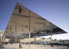 New cultural architecture in Marseille including a mirrored pavilion by Foster + Partners and contemporary arts centre by Kengo Kuma, plus museums. Door Canopy, Canopy Bedroom, Canopy Tent, Canopy Curtains, Pergola Canopy, Norman Foster, Backyard Canopy, Canopy Outdoor, Landscaping