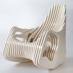 eduardo baroni mamulengo plywood rocking armchair