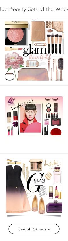 """""""Top Beauty Sets of the Week"""" by polyvore ❤ liked on Polyvore featuring beauty, Bobbi Brown Cosmetics, Forever 21, Herbivore, Kate Spade, Naeem Khan, FOSSIL, Clarins, makeup and trend"""