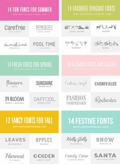 100+ of the best fonts to use throughout the year! So many AMAZING fonts - most of them FREE!
