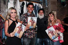 João da BioTwo e sua esposa, o Jogador Renan Ribeiro e sua esposa no evento de lançamento da coleção Verão 2017