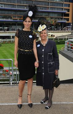 Julia Bradbury and Mother attend Day 4 of Royal Ascot at Ascot Racecourse on June 21, 2013 in Ascot, England.