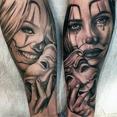 Payasa Tattoo, Clown Tattoo, Tattoo Style, Tattoo Trend, Tattoo Drawings, Tattoo Forearm, Chicano Tattoos, Skull Tattoos, Body Art Tattoos