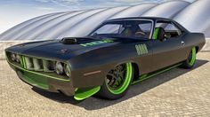How about this smokin' hot 1971 Plymouth Cuda 426? :D