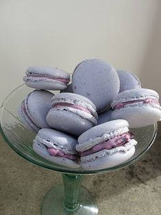 blueberry macaroons- My new favorite dessert! or should I say my husbands