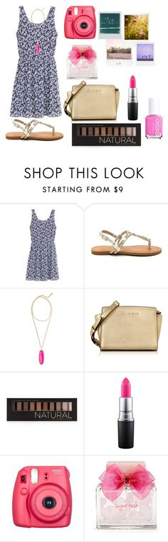 """""""Perfect for the spring rtd """" by kari-luvs-u-2 ❤ liked on Polyvore featuring Kendra Scott, Michael Kors, Forever 21, MAC Cosmetics, Polaroid, Aéropostale and Essie"""
