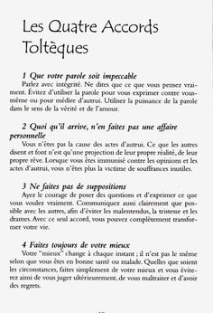 Les quatre accords toltèques - Don Miguel Ruiz - Vosges-passion Positive Mind, Positive Attitude, Positive Thoughts, Positive Vibes, Miracle Morning, Burn Out, Quote Citation, Life Rules, Motivation