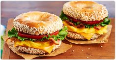 Burnbrae Farms : Recipe Nest : Egg Recipes : Bacon, Egg and Cheese Montreal-Style Bagel