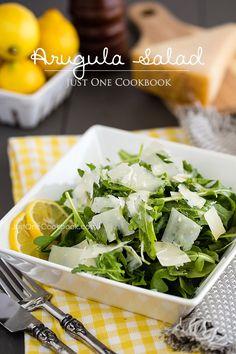 Arugula Salad   Salad Recipe   Just One Cookbook  FOOD PORN Appetizer Side Dish  Snack Entrée I   RECIPES  HEALTHY RECIPES  HEALTHY FOOD  HEALTHY COOKING  COOKING   Paleo Diet Paleo Recipes #recipes #healthy #cooking