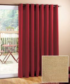 112 Quot Wide Blackout Patio Curtain Is Light Blocking And