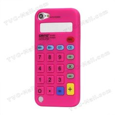 3D Calculator Silicone Cover Case for iPod Touch 5 - Rose