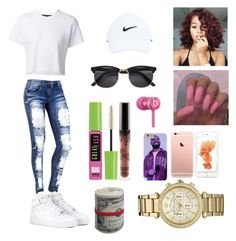"""""""I'm feelin' myself """" by confessioncl0set ❤ liked on Polyvore featuring Proenza Schouler, NIKE, Michael Kors, Beats by Dr. Dre and Maybelline"""