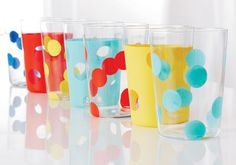 Surprise Mom with your creativity this Mother's Day with these colorful glass tumblers.    Courtesy of Martha Stewart Crafts™