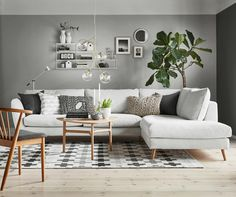 Small Living Room Minimalist - 37 Cozy Living Room Decoration Tips for Apartment Scandinavian Design Living Room, Small Living Room Decor, Living Room Scandinavian, Monochromatic Living Room, Homedecor Living Room, Apartment Living Room, Dreamy Living Room, Living Room Remodel, Room Design
