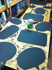 Gil: Lousa, quadro negro na decoração, customização de objetos de artesanato.
