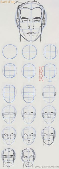 How to Draw Faces Front View drawing tutorials - Drawing Tutorial Pencil Drawing Tutorials, Sketches Tutorial, Pencil Art Drawings, Art Drawings Sketches, Easy Drawings, Hipster Drawings, Art Illustrations, Painting Tutorials, Contour Drawings