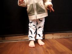 Mustache sweat pants - for Babies and Toddler
