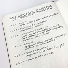 127 Bullet Journal Morning Routines Ideas To Power Start Your Mornings - Bullet Journal & Bullet Journal Layout, Bullet Journal Inspiration, Journal Ideas, Planner Journal, Bullet Journals, Miracle Morning, Morning Ritual, Night Routine, Morning Routines