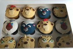 Lion Guard / Lion King handmade cupcakes Løvernes Konge cupcakes fra Bake My Day