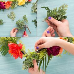 Put your flower arranging skills to the test with this floral chandelier project.